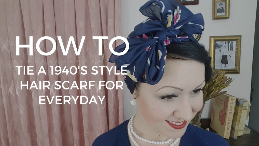 How to Tie a 1940's Rosie the Riveter Vintage Style Hair Scarf