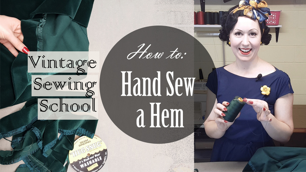 How to Hand Sew a Hem on a Vintage Dress