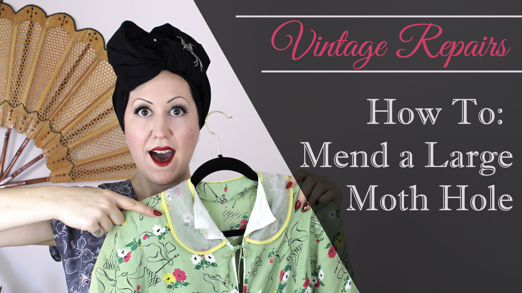 How to Fix a Large Moth Hole in a Vintage Dress