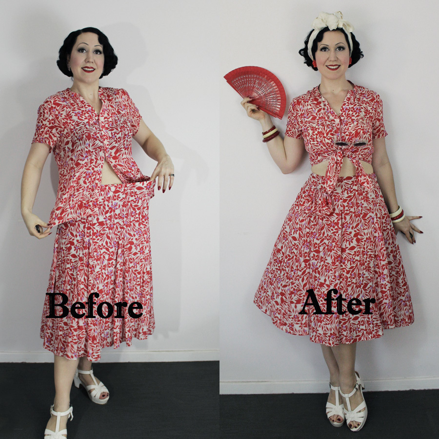 e3ce40d9cb1 Thrift to vintage ep 2 - 1940 s playsuit - Evelyn Wood - Vintage ...