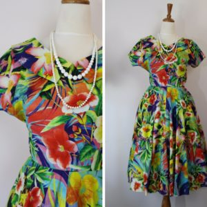 Olive 1950's dress - Evely Wood