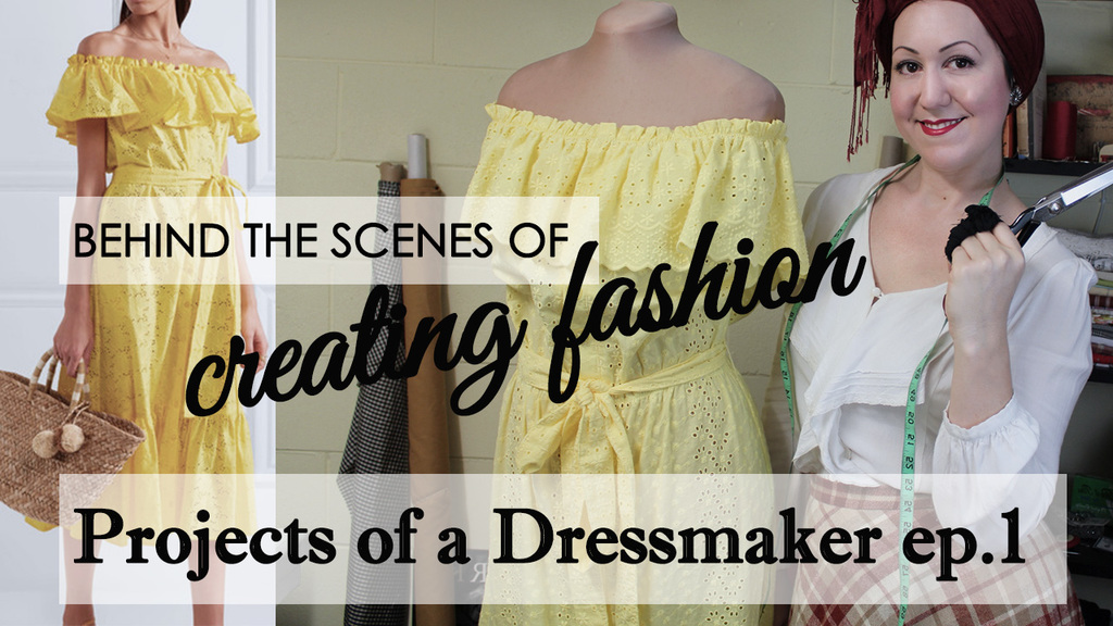 Projects of a dressmaker- ep 1 Making an off the shoulder sundress for a client