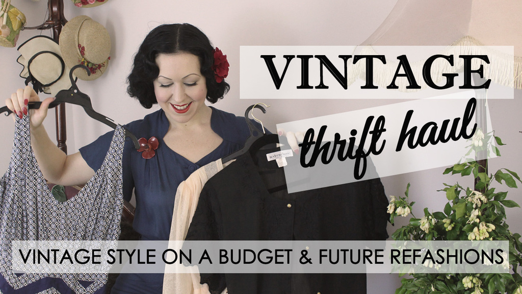 Vintage Thrift Haul ep 1 – Future Thrift to Vintage Refashions