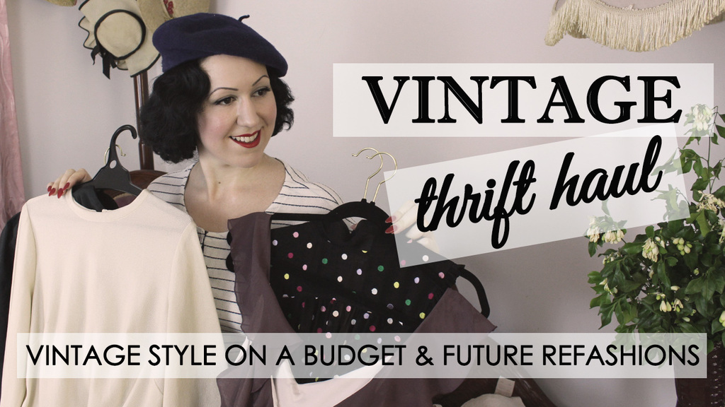 Vintage Thrift Haul ep 2 – Future Thrift to Vintage Refashions!