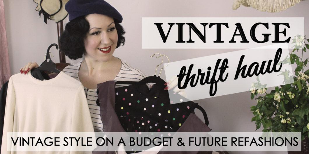 34c650bc124 Vintage Thrift Haul ep 2 – Future Thrift to Vintage Refashions!