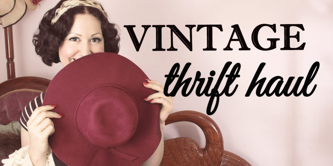 b6ebffe2a77  4 Vintage Thrift Haul – Lots of items for refashioning and turning into vintage  style