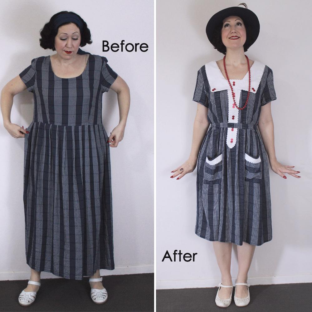 1920's style vintage dress thrift store REFASHION - DIY ...