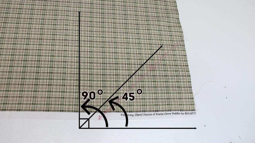 46b1d4d9faa0 What is the bias? How to find the bias grain in fabric? - Vintage ...