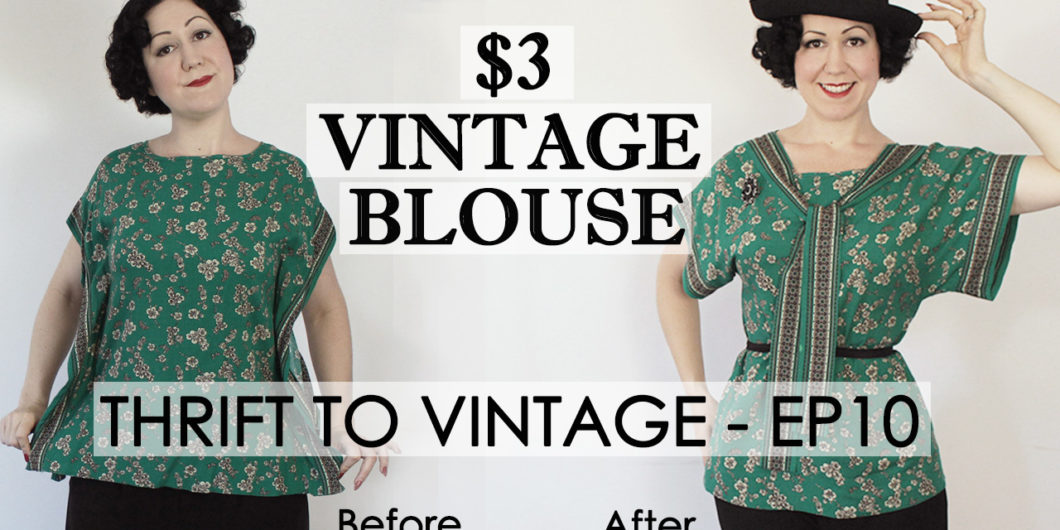 54f447c5eb4  3 thrift store top refashioned into a vintage 1920 s kimono blouse – Thrift  to Vintage ep.11